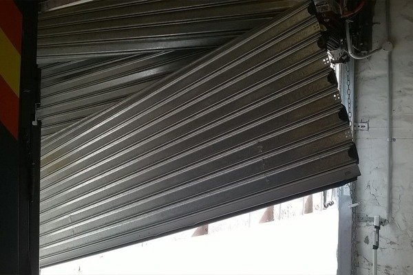Broken Commercial Roller Shutters